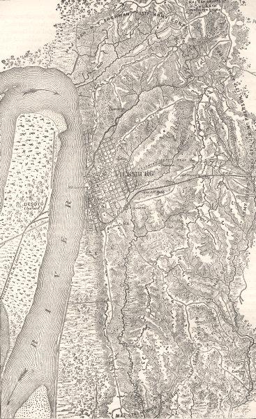 Associate Product MISSISSIPPI. Civil War. Plan of Vicksburg c1880 old antique map chart