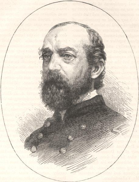 Associate Product MILITARIA. Civil War. General Meade c1880 old antique vintage print picture