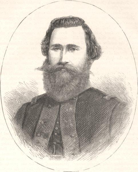 Associate Product MILITARIA. Civil War. General Stuart c1880 old antique vintage print picture
