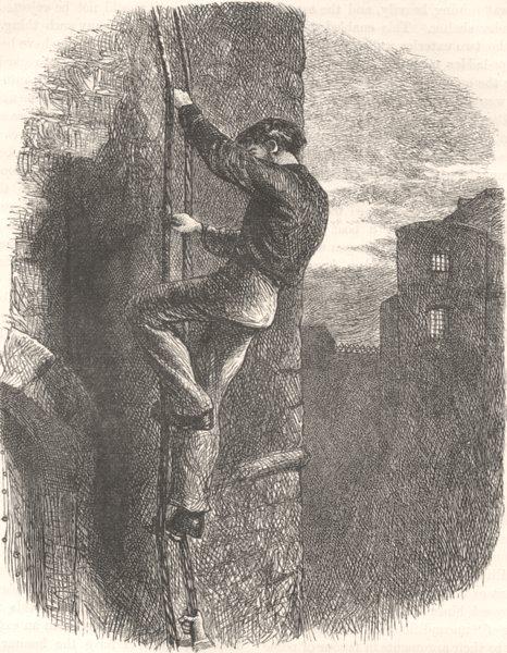 USA. Civil War. Escape of Morgan c1880 old antique vintage print picture