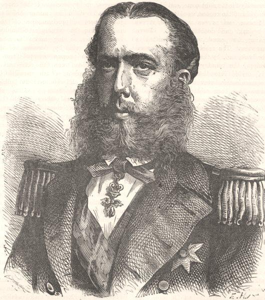 Associate Product ROYALTY. Civil War. Emperor Maximilian c1880 old antique vintage print picture