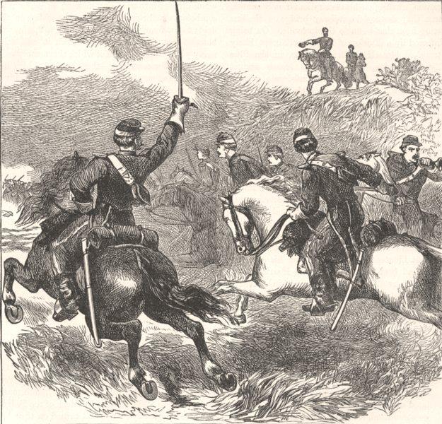 Associate Product MILITARIA. Civil War. General Sheridan, Cedar Creek c1880 old antique print