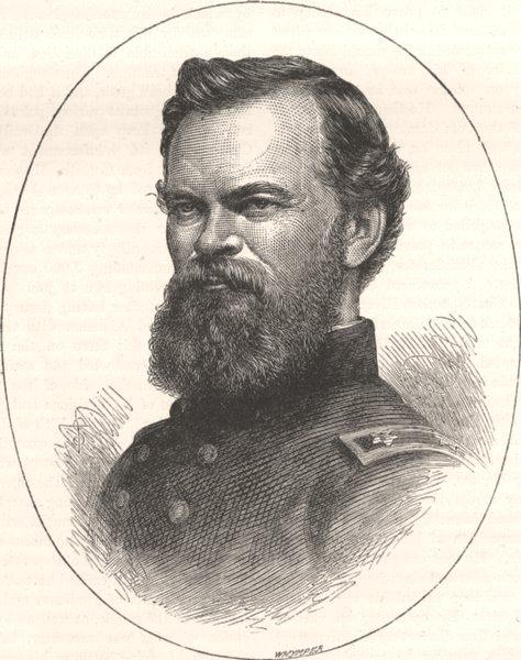 Associate Product MILITARIA. Civil War. General McPherson c1880 old antique print picture