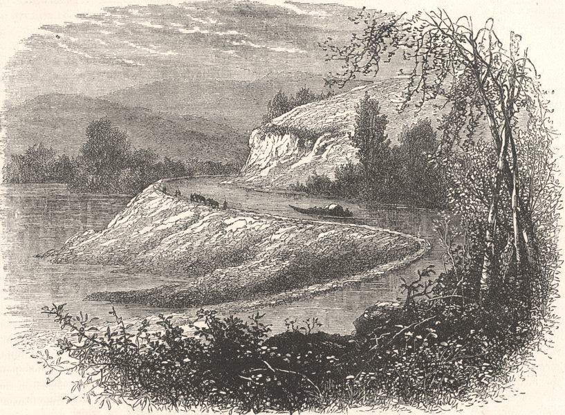 Associate Product VIRGINIA. Civil War. James River & Country Richmond c1880 old antique print