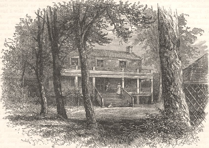 Associate Product USA. Civil War. house where General Lee surrendered c1880 old antique print