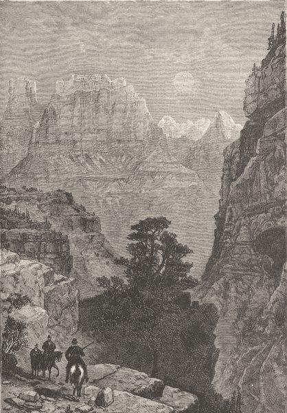 Associate Product UTAH. Temple of Virgin, Mu-koon-tu-weap valley c1880 old antique print picture
