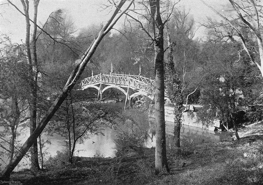 Associate Product OXON. Nuneham bridge, wood 1897 old antique vintage print picture