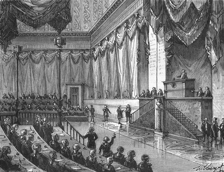 Associate Product FRANCE. Introduction. Séance de Convention 1881 old antique print picture