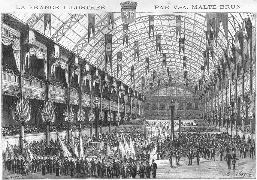 Associate Product FRANCE. Recompenses Palais de L'Industrie 1881 old antique print picture