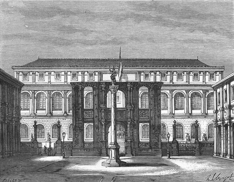Associate Product PARIS. Introduction. Ecole Beaux-Arts, a 1881 old antique print picture