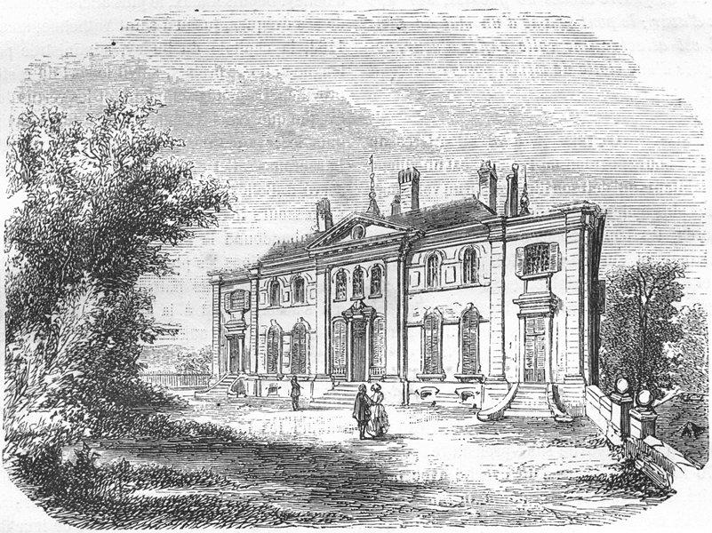 Associate Product AIN. Habitation de Voltaire 1881 old antique vintage print picture