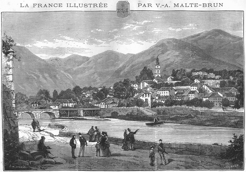 Associate Product ALPES-DE-HAUTE-PROVENCE. Digne 1881 old antique vintage print picture