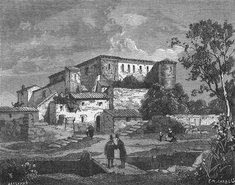 Associate Product FRANCE. Basses-Alpes. Chateau de Greoulx 1881 old antique print picture