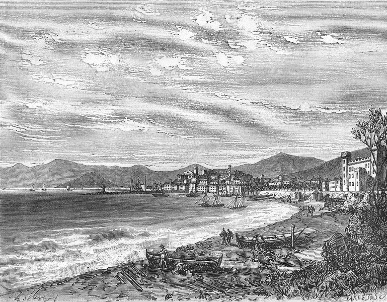 Associate Product ALPES-MARITIMES. Cannes 1881 old antique vintage print picture