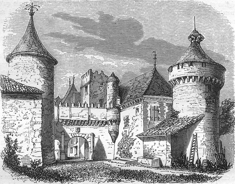 Associate Product CHARENTE. Chateau de L'Oisellerie 1881 old antique vintage print picture
