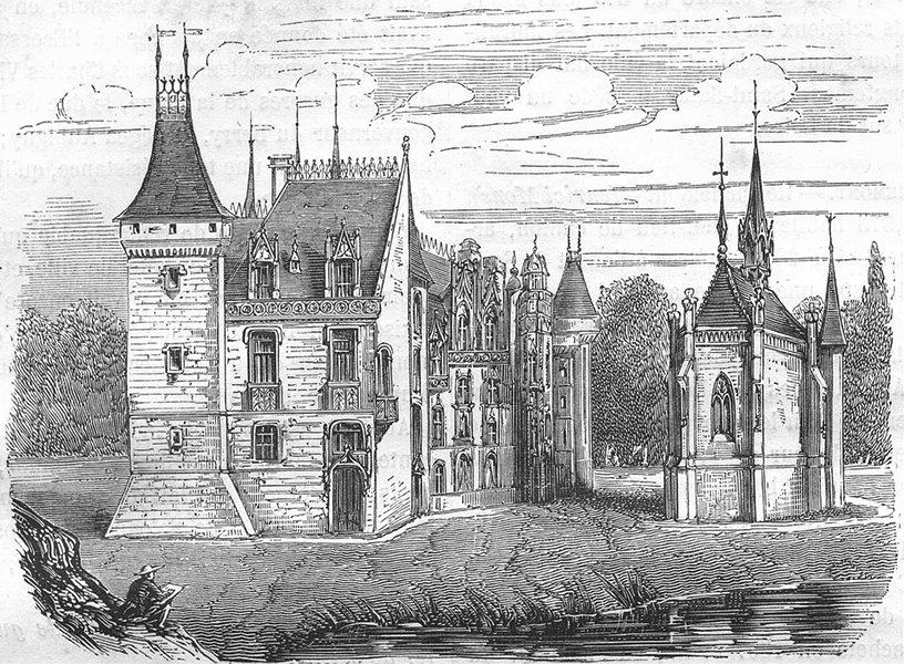 Associate Product CHER. Chateau de Meillan 1881 old antique vintage print picture