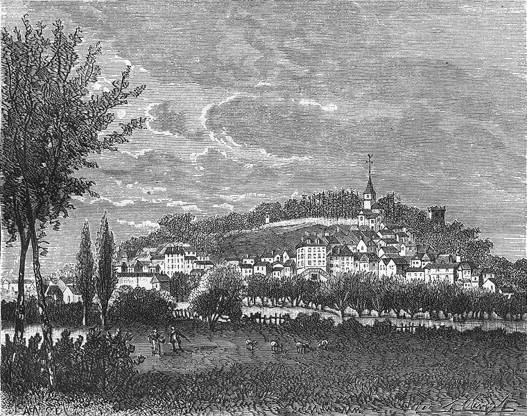Associate Product CÔTE-D'OR. Cote. Montbard 1881 old antique vintage print picture