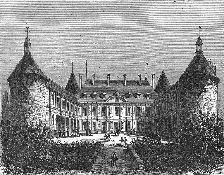 Associate Product FRANCE. Cote-D'Or. Chateau de Bussy 1881 old antique vintage print picture