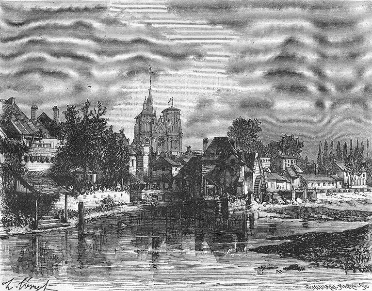 Associate Product CÔTES-D'ARMOR. Cotes-Du-Nord. Guingamp 1881 old antique vintage print picture