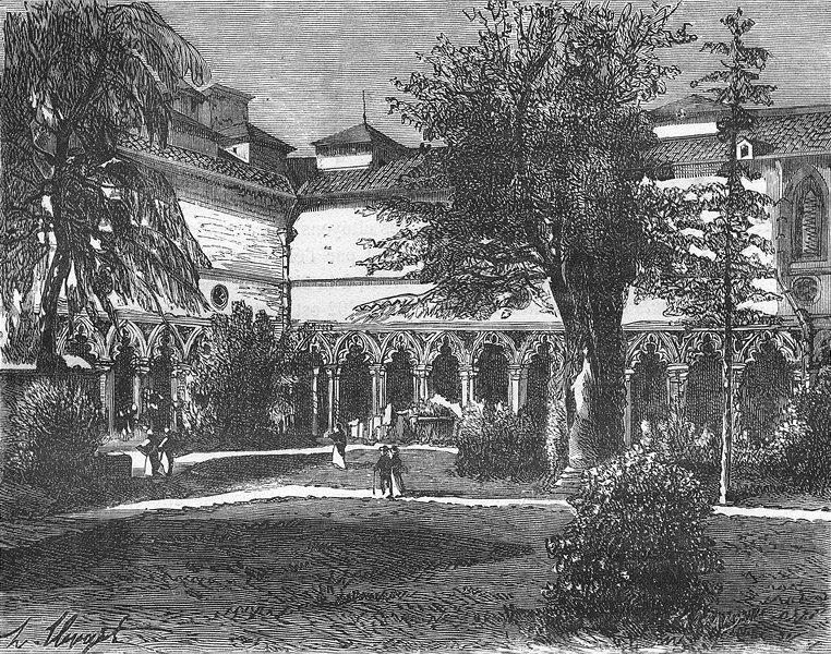 Associate Product HAUTE-GARONNE. Du Musee de Toulouse 1881 old antique vintage print picture