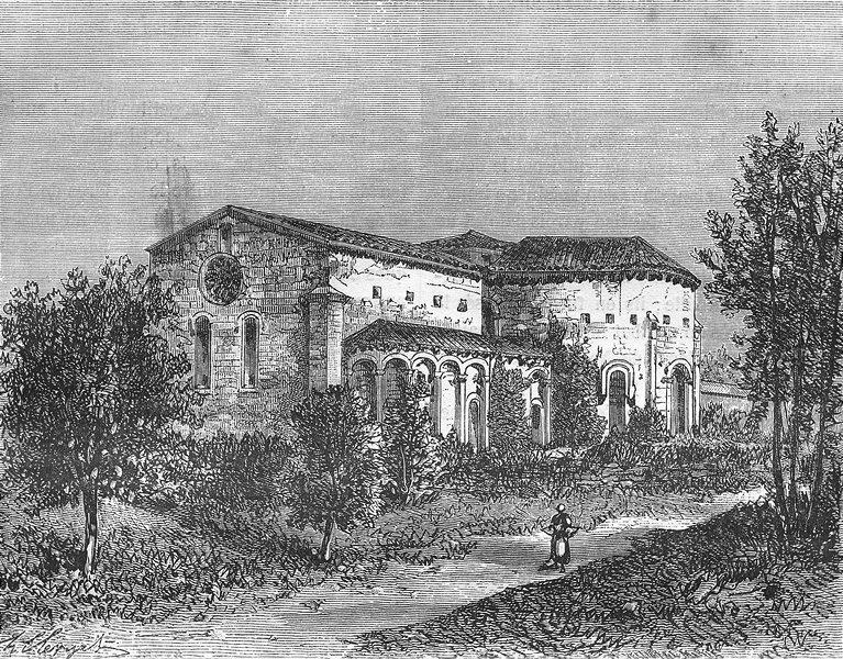 Associate Product GERS. Abbaye de Flaran(Valence-sur-Baise) 1881 old antique print picture