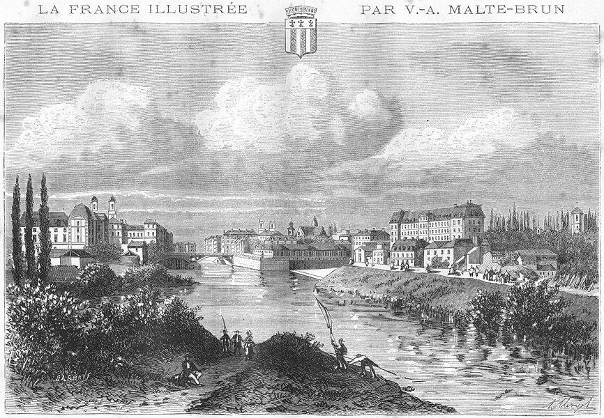 Associate Product ILLE-VILAINE. Rennes 1881 old antique vintage print picture