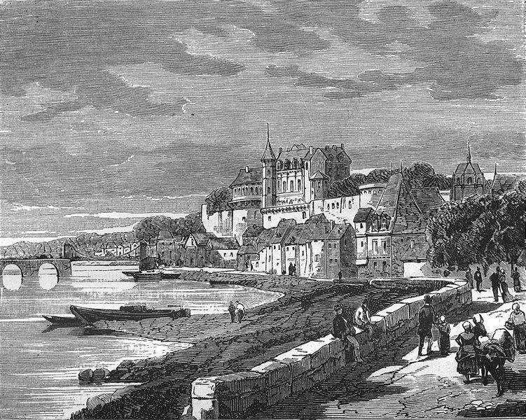 Associate Product INDRE-LOIRE. d'Amboise 1881 old antique vintage print picture