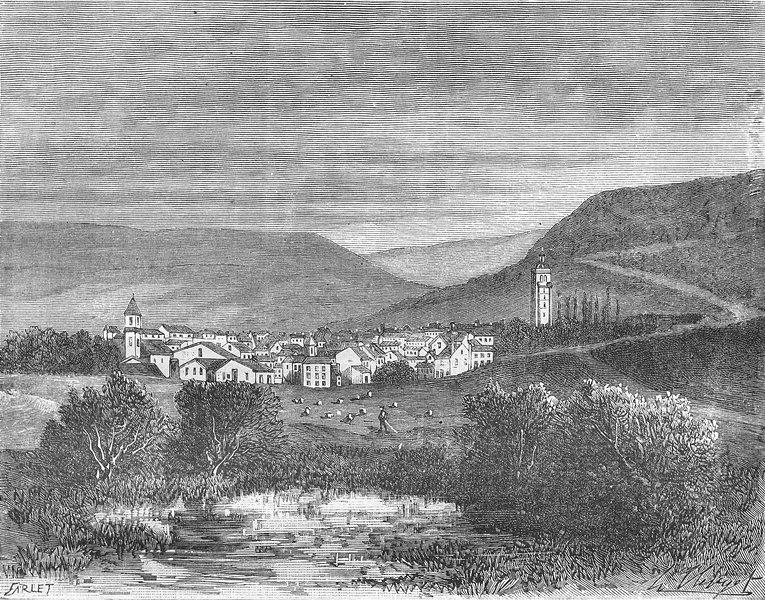 Associate Product JURA. Arbois 1881 old antique vintage print picture