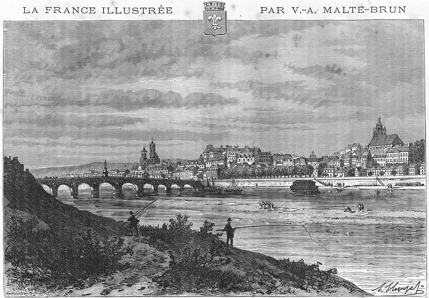 Associate Product LOIR-CHER. Blois 1881 old antique vintage print picture