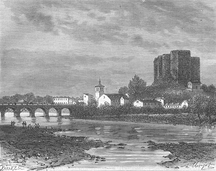 Associate Product CHER. Loire. Montrond 1882 old antique vintage print picture