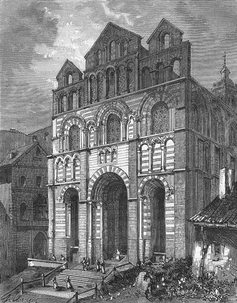 Associate Product HAUTE-LOIRE. Cathedrale du Puy 1882 old antique vintage print picture