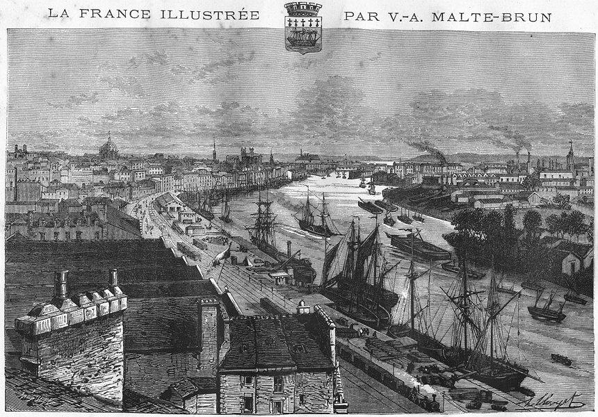 Associate Product LOIRE-ATLANTIQUE. Nantes 1882 old vintage print picture