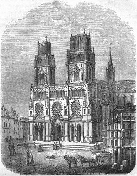Associate Product LOIRET. Cathedrale d'Orleans 1882 old antique vintage print picture