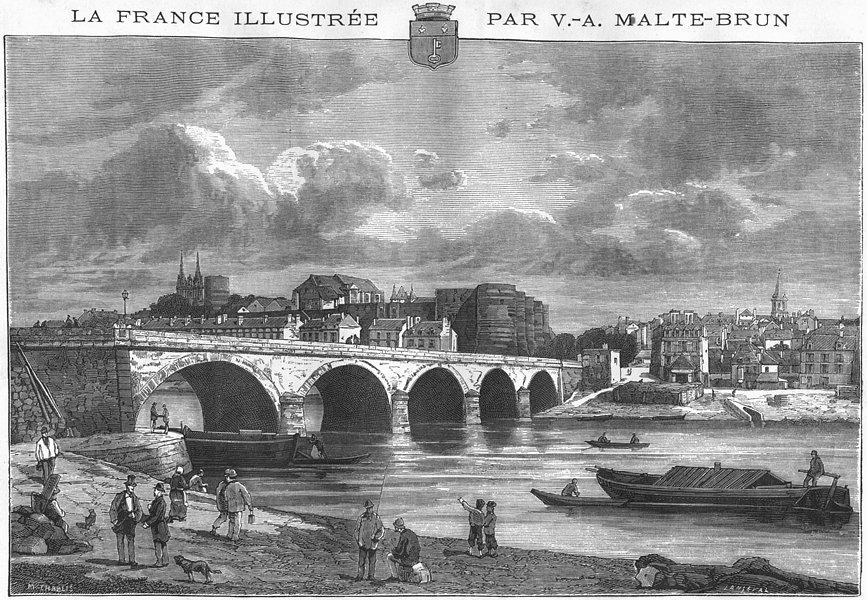 Associate Product MAINE-LOIRE. Angers 1882 old antique vintage print picture
