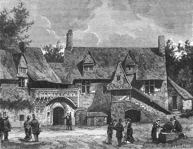 MAINE-LOIRE. de Plessis-Mace 1882 old antique vintage print picture
