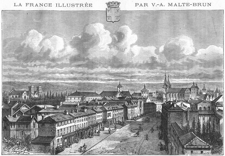 Associate Product MARNE. Chalons-Sur  1882 old antique vintage print picture