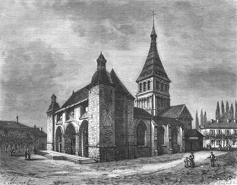 Associate Product HAUTE-MARNE. Notre-Dame de Wassy 1882 old antique vintage print picture