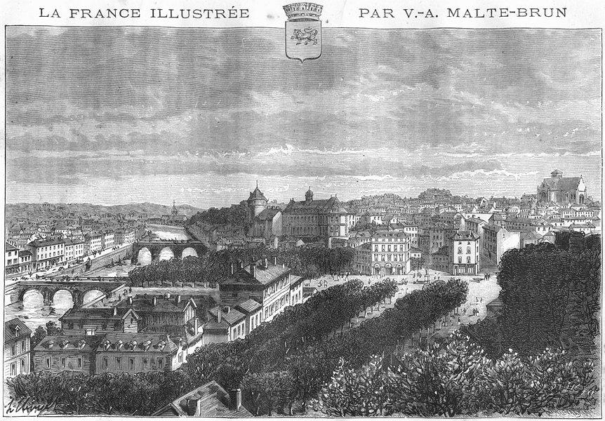 Associate Product MAYENNE. Laval 1882 old antique vintage print picture