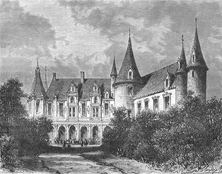 Associate Product MAYENNE. Chateau du Rocher, a Mézangers 1882 old antique vintage print picture