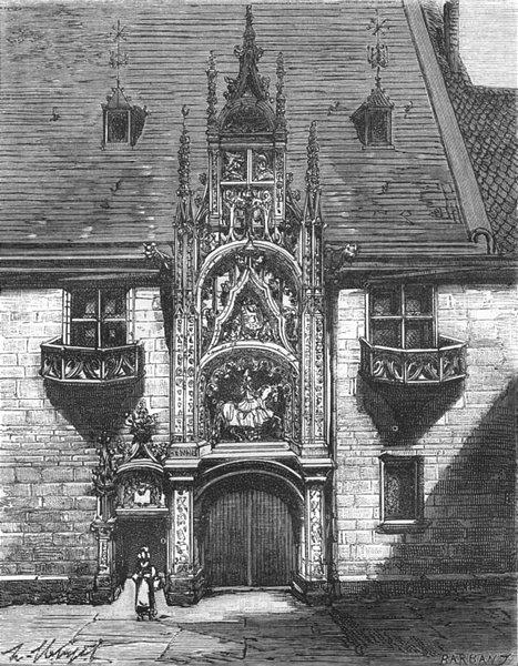 Associate Product NANCY. Porte du Palais ducal, a 1882 old antique vintage print picture