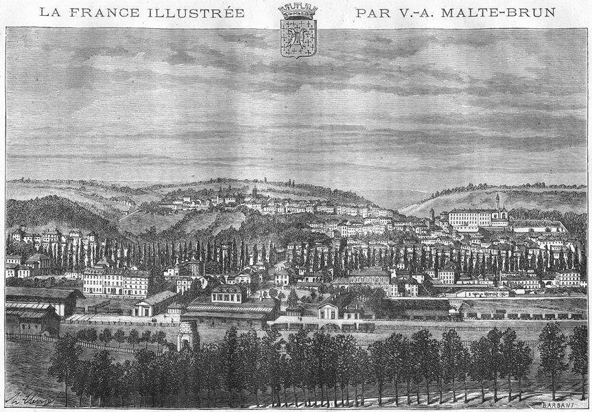 Associate Product MEUSE. Bar-le-Duc 1882 old antique vintage print picture