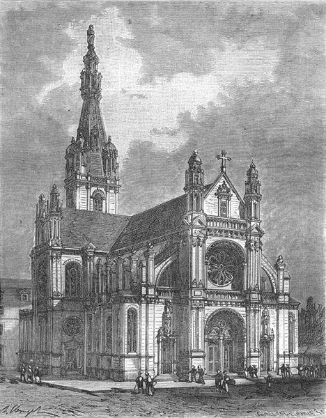 MORBIHAN. Eglise Ste-Anne d' Auray 1882 old antique vintage print picture