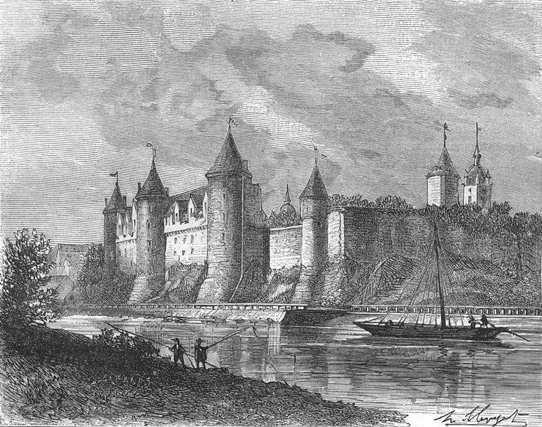 Associate Product MORBIHAN. Chateau de Josselin 1882 old antique vintage print picture
