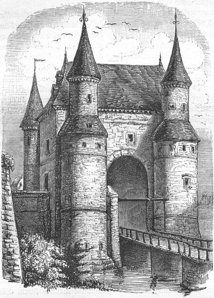 Associate Product NORD. Porte de Lille, a Valenciennes 1882 old antique vintage print picture