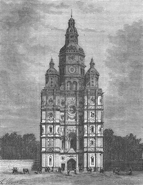Associate Product NORD. Eglise de St-Amand 1882 old antique vintage print picture