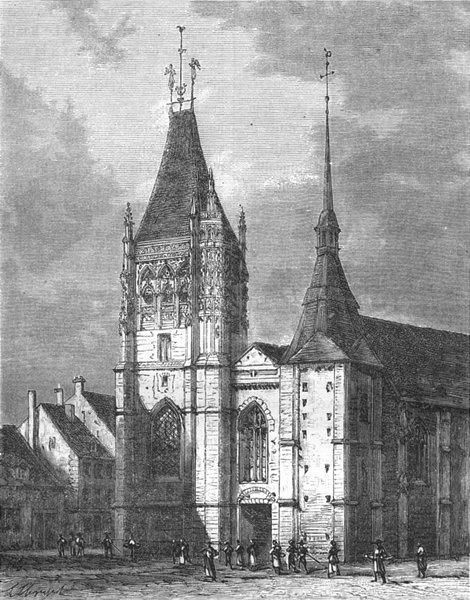 Associate Product ORNE. Eglise St-Martin, a Laigle 1882 old antique vintage print picture