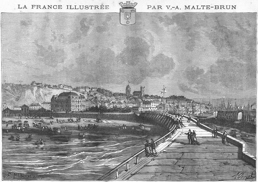 Associate Product PAS-DE-CALAIS. Boulogne 1882 old antique vintage print picture