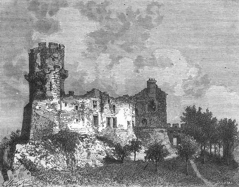 Associate Product PUY-DE-DÔME. Dome. Chateau Tournoel 1882 old antique vintage print picture