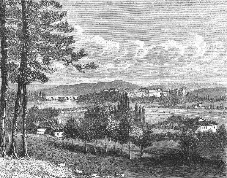 Associate Product BAYONNE. Basses-Pyrenees. (du Boucau) 1882 old antique vintage print picture