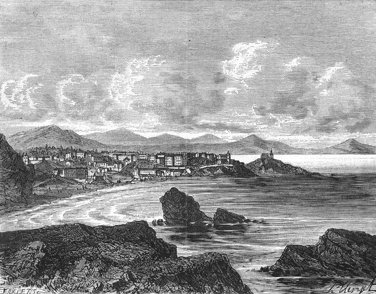 Associate Product PYRÉNÉES-ATLANTIQUES. Basses-Pyrenees. Biarritz 1882 old print picture